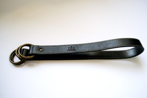 Black shoulder belt