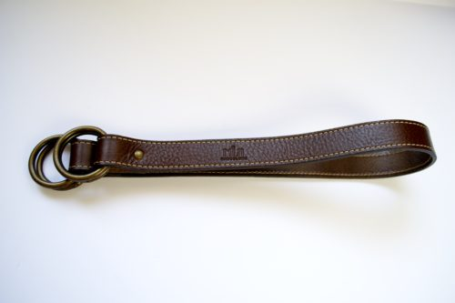 Brown shoulder belt